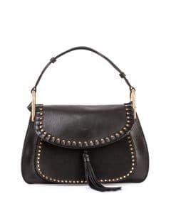 Chloe Black Studded Hudson Double-Carry Bag