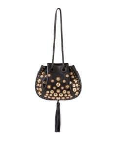 Chloe Black Studded Inez Small Drawstring Bag