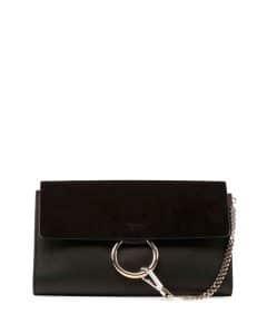 Chloe Black Suede/Leather Faye Clutch Bag
