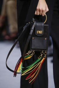 Chloe Black/Multicolor Tassled Nano Flap Bag - Spring 2016