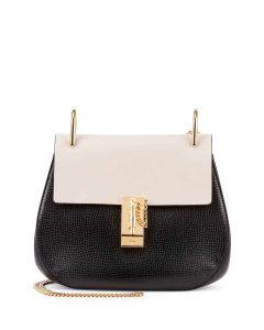 Chloe Black/White Drew Medium Bag