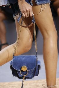 Chloe Blue Suede Flap Bag - Spring 2016