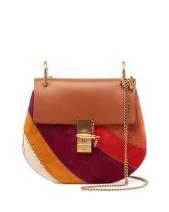 Chloe Caramel Multicolor Patchwork Drew Small Bag