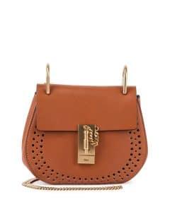 Chloe Caramel Perforated Drew Small Bag