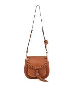 Chloe Caramel Studded Hudson Small Bag