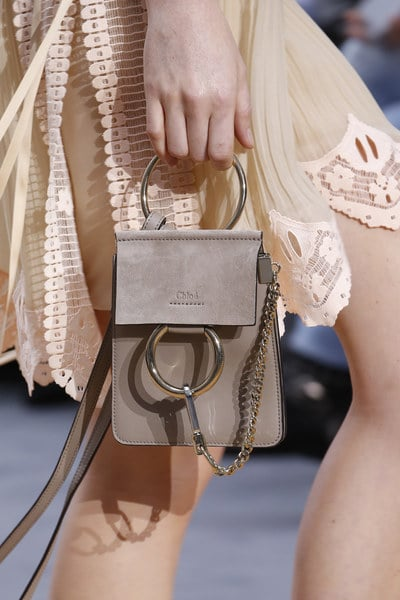 chloe spring summer 2016 runway bag collection featuring the nano faye bag spotted fashion. Black Bedroom Furniture Sets. Home Design Ideas