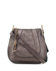 Chloe Gray Suede/Leather Hayley Hobo Small Bag