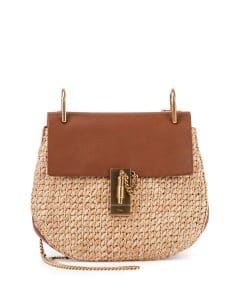 Chloe Natural Raffia Drew Small Bag