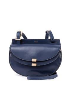 Chloe Navy Georgia Mini Crossbody Bag