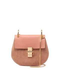 Chloe Rose Suede/Leather Drew Small Bag