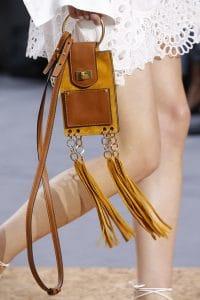 Chloe Tan Leather/Suede Tasseled Nano Flap Bag - Spring 2016