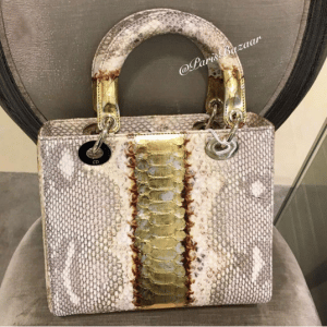 Dior Beige Python Lady Dior Medium Bag - Cruise 2016