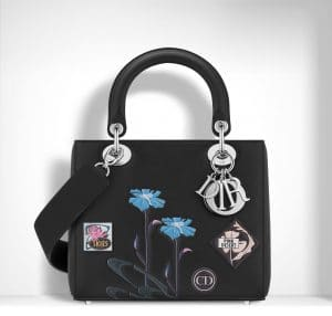 Dior Black Paradise Lady Dior Bag
