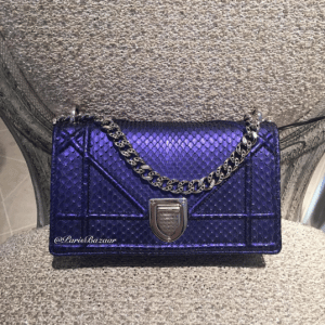Dior Blue Python Diorama Mini Flap Bag - Cruise 2016