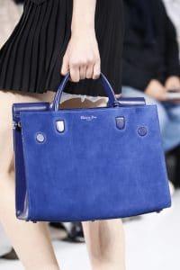 Dior Blue Suede Tote Bag - Spring 2016