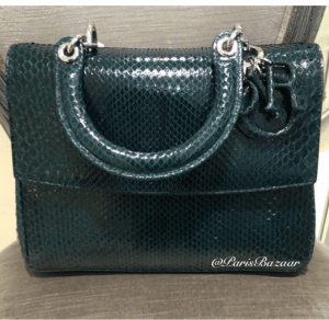 Dior Dark Green Python Be Dior Bag - Cruise 2016