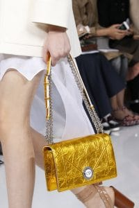 Dior Gold Diorama Flap Bag - Spring 2016