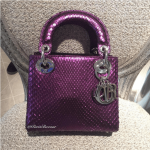 Dior Purple Lady Dior Mini Bag - Cruise 2016