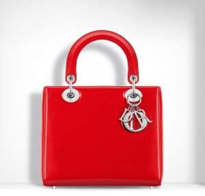 Dior Red Patent Lady Dior Bag
