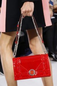 Dior Red Perforated Patent Diorama Flap Bag - Spring 2016
