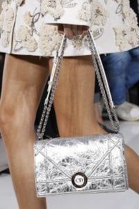 Dior Silver Diorama Flap Bag - Spring 2016