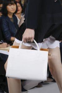 Dior White Crocodile Tote Bag - Spring 2016