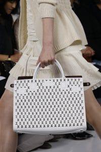 Dior White Embellished Large Tote Bag - Spring 2016