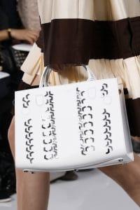 Dior White Embellished Tote Bag 2 - Spring 2016