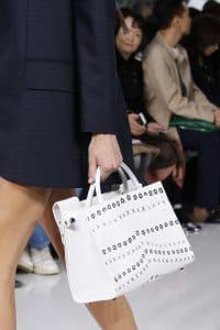 Dior White Floral Embellished Tote Bag - Spring 2016