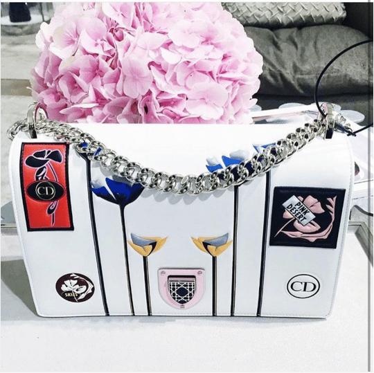 Dior White Paradise Diorama Flap Bag - Cruise 2016. IG  modakulup 8cc0bae60f535