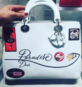 Dior White Paradise Diorissimo Bag - Cruise 2016