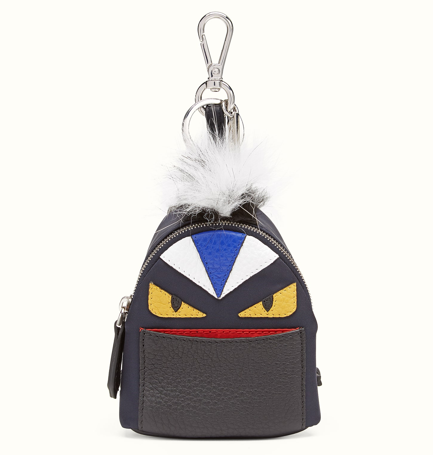 Fendi Black Bag Bugs Backpack Charm - Men