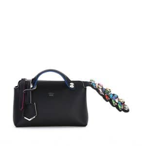 Fendi Black Crystal-Croc-Tail By The Way Mini Bag