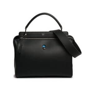 Fendi Black Dot.Com Satchel Bag