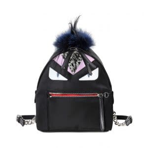 Fendi Black Mohawk Monster Backpack Bag
