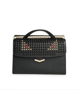 Fendi Black Studded Monster Demi Jour Small Bag