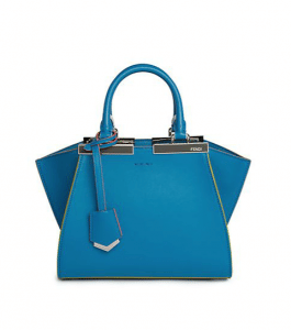 Fendi Blue 3Jours Mini Tote Bag