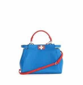 Fendi Blue/Red Peekaboo Mini Bag