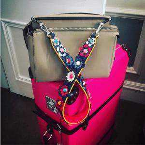 Fendi Milk Dot.Com Bag With Floral Embellished Strap You
