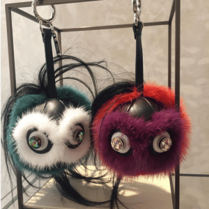 Fendi Multicolor Monster Fur Charms with Beak