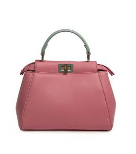 Fendi Pink/Green Peekaboo Mini Bag
