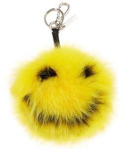 Fendi Yellow Happy Fur Monster Bag Charm