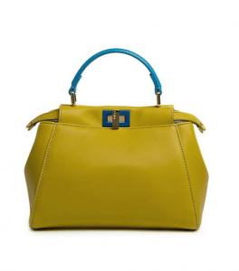 Fendi Yellow/Blue Peekaboo Mini Bag