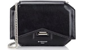 Givenchy Black Bow Cut Chain Wallet