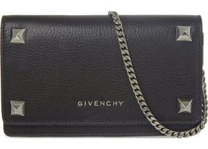 Givenchy Black Large Studs Pandora Chain Wallet