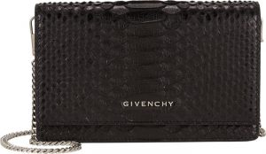 Givenchy Black Python Pandora Chain Wallet