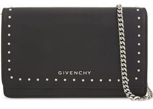 Givenchy Black Small Studs Pandora Chain Wallet