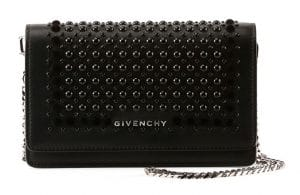 Givenchy Black Studded Pandora Chain Wallet