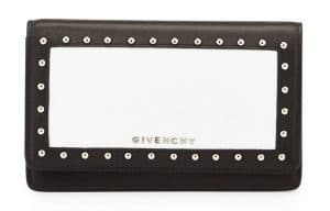 Givenchy Black/White Studded Colorblock Pandora Chain Wallet