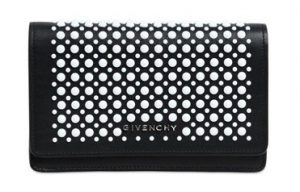 Givenchy Black/White Studded Pandora Chain Wallet